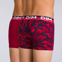 Lot de 2 boxers rubis graphique Eco Dim DIM BOY-DIM