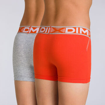 Lot de 2 boxers gris chiné Stadium DIM BOY-DIM