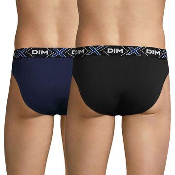 Lot de 2 slips bleu- marin et noir X-TEMP-DIM
