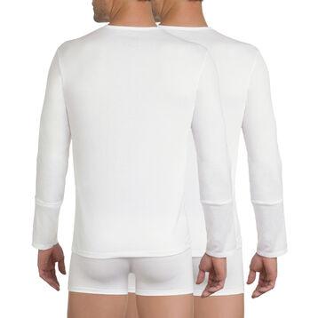 Lot de 2 T-shirts manches longues X-Temp blancs-DIM