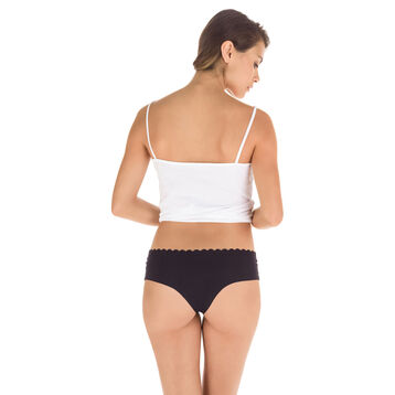 Lot de 2 hipsters noir et blanc en coton Body Touch-DIM