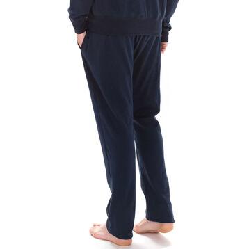 Pantalon de pyjama bleu foncé sportswear 100% coton Homme-DIM