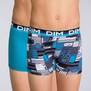 Lot de 2 boxers navy blue graphique Eco Dim DIM BOY-DIM