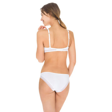 Slip blanc seconde peau Invisi Fit-DIM