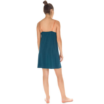 Nuisette à fines bretelles vert bleu Femme-DIM