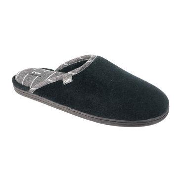 Chaussons pantoufles noirs et gris Homme-DIM