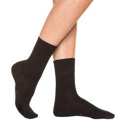 Chaussettes noires Femme Pur Coton-DIM
