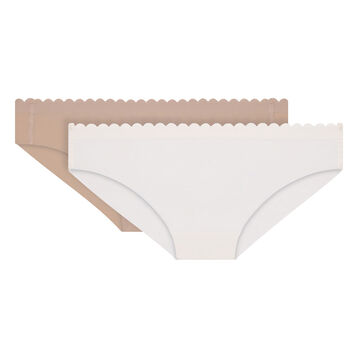 Lot de 2 slips nacre et new skin en microfibre Body Touch-DIM