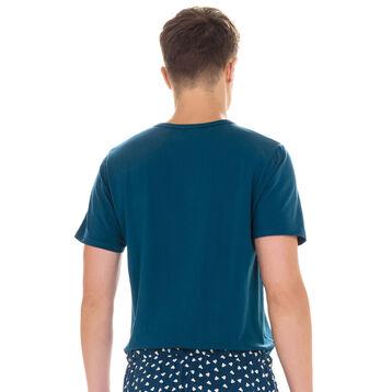 T-shirt manches courtes de pyjama bleu diesel en coton Homme-DIM