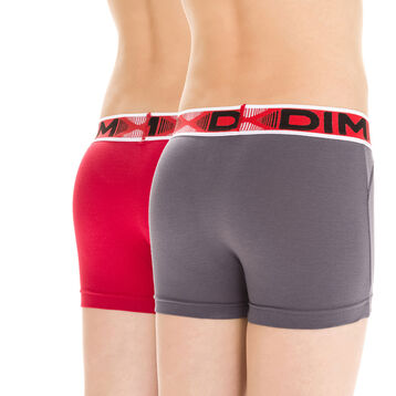 Lot de 2 boxers rouge et gris Stadium DIM Boy-DIM