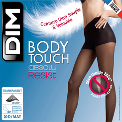 Collant noir Body Touch 20D Absolu Resist-DIM