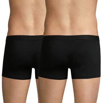 Lot de 2 boxers noirs EcoDIM en coton stretch-DIM