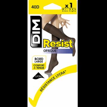 Mi-bas noirs Resist Opaque 40D-DIM