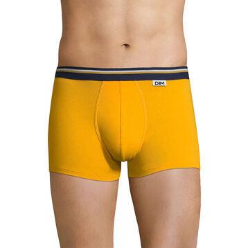 Boxer jaune safran ceinture bleu marin DIM Colors-DIM