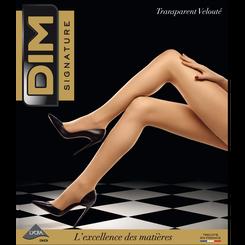 Collant DIM Signature transparent velouté gris 17D-DIM