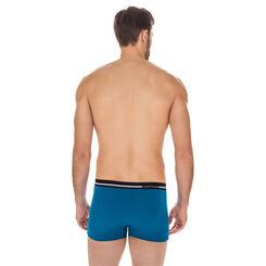 Boxer Australien bleu poséidon en coton stretch-DIM