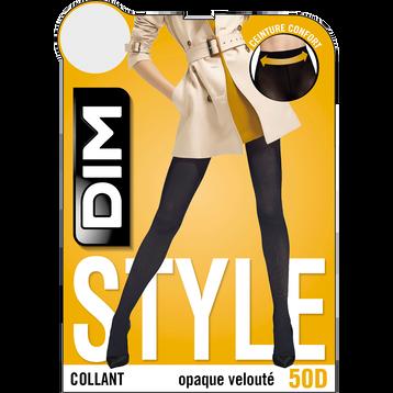 Collant opaque velouté Jaune d'or 50D Femme Les Opaques-DIM
