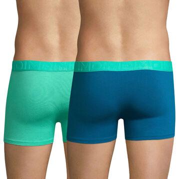 Lot de 2 boxers vert et bleus Mix & Fancy-DIM