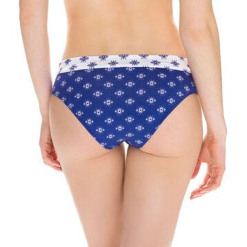 Bas de maillot de bain culotte avec revers imprimé Femme-DIM