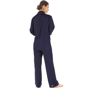 Pantalon de pyjama bleu marine Femme-DIM
