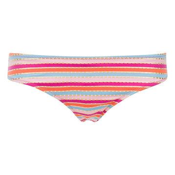 Bas de maillot de bain culotte rayures multicolores Femme-DIM