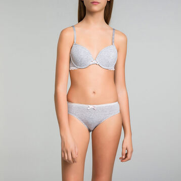 Soutien-gorge à armatures gris chiné DIM Girl-DIM