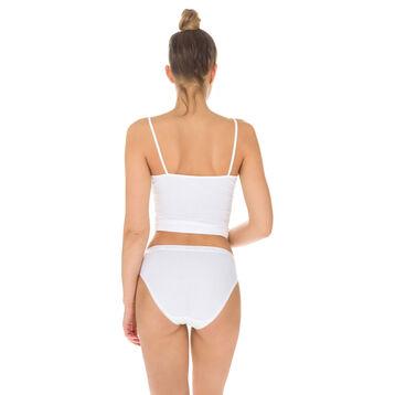 Lot de 3 slips (2+1 gratuit) blancs midi Femme Pur Coton-DIM