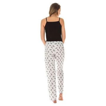 Pantalon de pyjama nacre imprimé zèbres Femme-DIM
