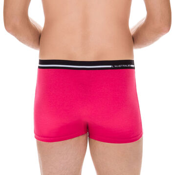 Boxer Australien fuchsia en coton stretch-DIM