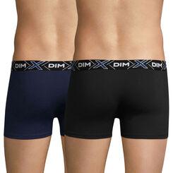 Lot de 2 boxers bleu-marin et noir X-TEMP-DIM