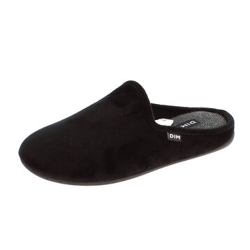 Chaussons pantoufles noir Homme-DIM
