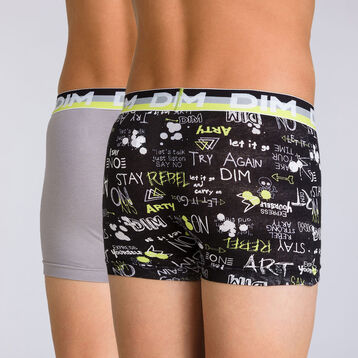 Lot de 2 boxers absinthe graphique Eco Dim DIM BOY-DIM