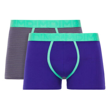 Lot de 2 boxers violet et rayures violets lilas Mix & Fancy-DIM