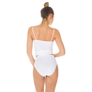 Lot de 3 slips (2+1 gratuit) blancs Pur Coton taille haute-DIM