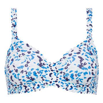 Soutien-gorge imprimé bleu porcelaine Body Touch-DIM