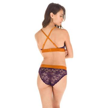 Soutien-gorge triangle en dentelle violet profond MOD de DIM-DIM