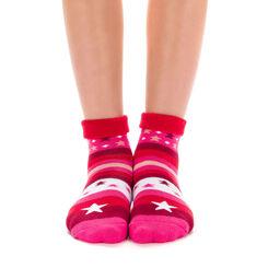 Chaussettes rouge à rayures et étoiles pour Enfant-DIM