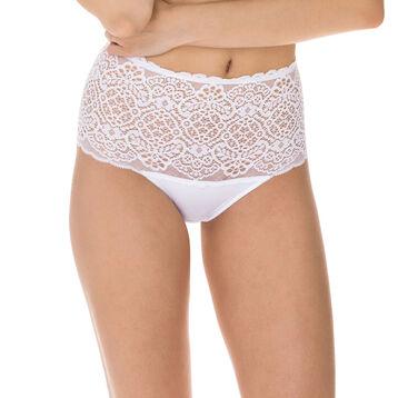 Slip taille haute blanc Sublim Dentelle-DIM