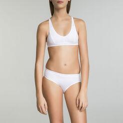 Lot de 2 culottes blanches en microfibre DIM Girl-DIM