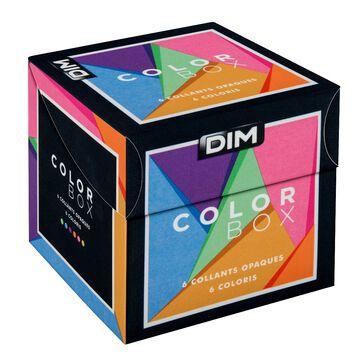 Color Box - Lot de 6 collants opaques veloutés colorés 40D-DIM
