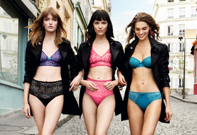 DIM, Femme : soutiens-gorge, culottes, boxers, chaussettes et collants