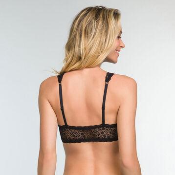 Brassière Noire Ampliforme dentelle pour femme Daily Glam Trendy Sexy, , DIM