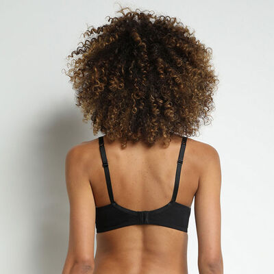 Soutien-gorge femme foulard microfibre et dentelle Noir Jolie Madame, , DIM