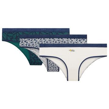 Lot de 3 culottes Végétal - Les Pockets Coton Stretch, , DIM