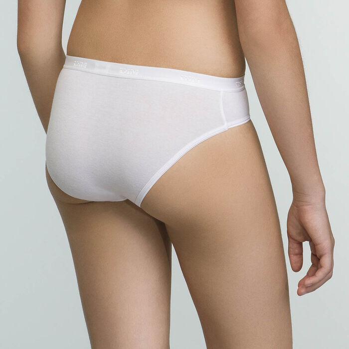 Lot de deux culottes blanches pour fille en coton bio, , DIM