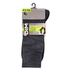 Mi-chaussettes anthracites en bambou Homme-DIM