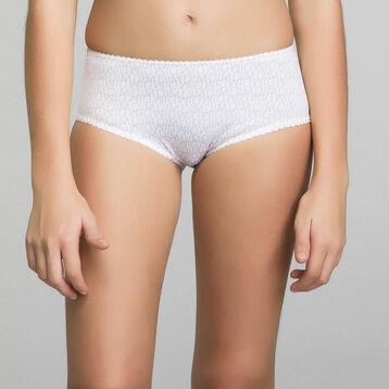 Shorty blanc fille imprimé logo - Dim Touch , , DIM