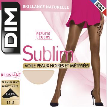 Collant havane Sublim peaux noires et métisses 15D-DIM