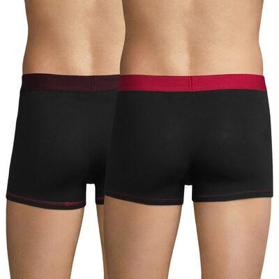 Lot de 2 boxers homme noir & rouge - DIM Mix & Colors, , DIM