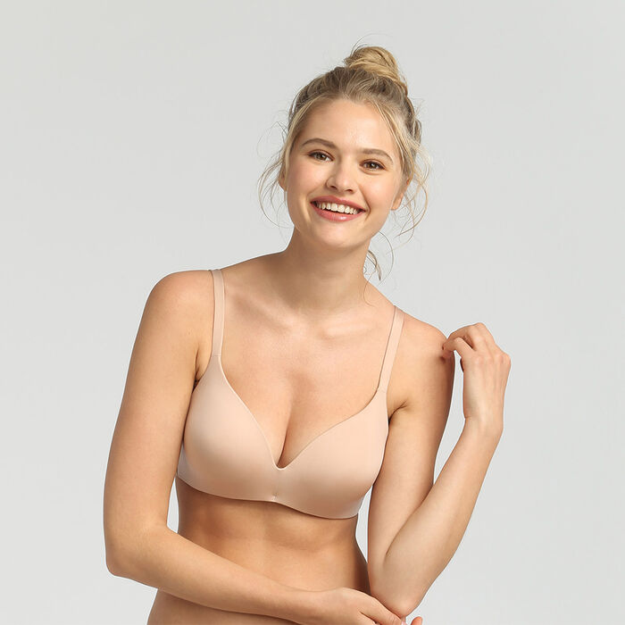 Soutien-gorge triangle ampliforme sans armatures new skin InvisiFree, , DIM